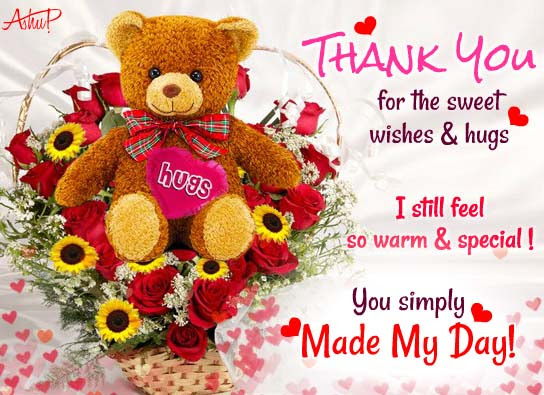 Your Hugs Made My Day Free Thank You Ecards Greeting Cards 123