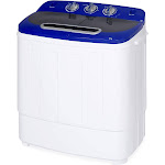 Portable Mini Washing Machine with Hose, 13lbs Capacity - White/Blue
