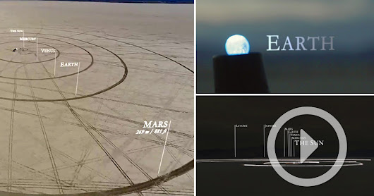 Starting With the Earth as a Marble, This Is the First Timelapse of the Solar System to Scale