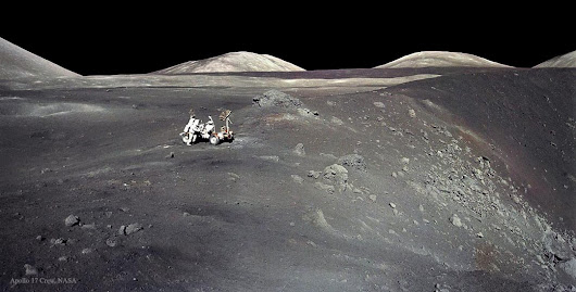 APOD: 2015 August 2 - Apollo 17 at Shorty Crater