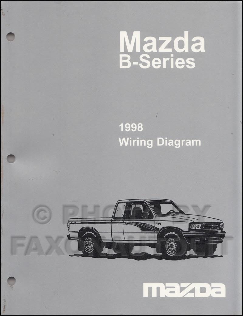 1998 Mazda B4000 B3000 B2500 Pickup Truck Wiring Diagram ...