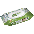 Seventh Generation Chlorine-Free Baby Wipes, White, Unscented - 64 pack