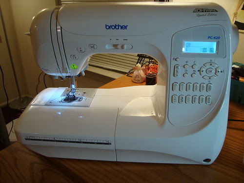 My new Brother Project Runway Limited Edition PC-420