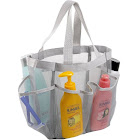 7 Pocket Shower Caddy Tote Grey - Keep Your Shower Essentials Within