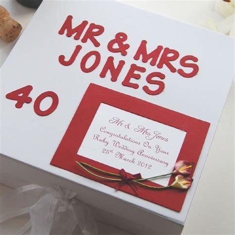 Personalised Ruby Anniversary Keepsake Box   The Gift