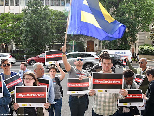 Protesters Demand Moscow Stop Chechen Atrocities
