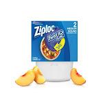 Ziploc 18035 Twist 'n Loc Medium Round Containers and Lids, 32 Oz, 2-count
