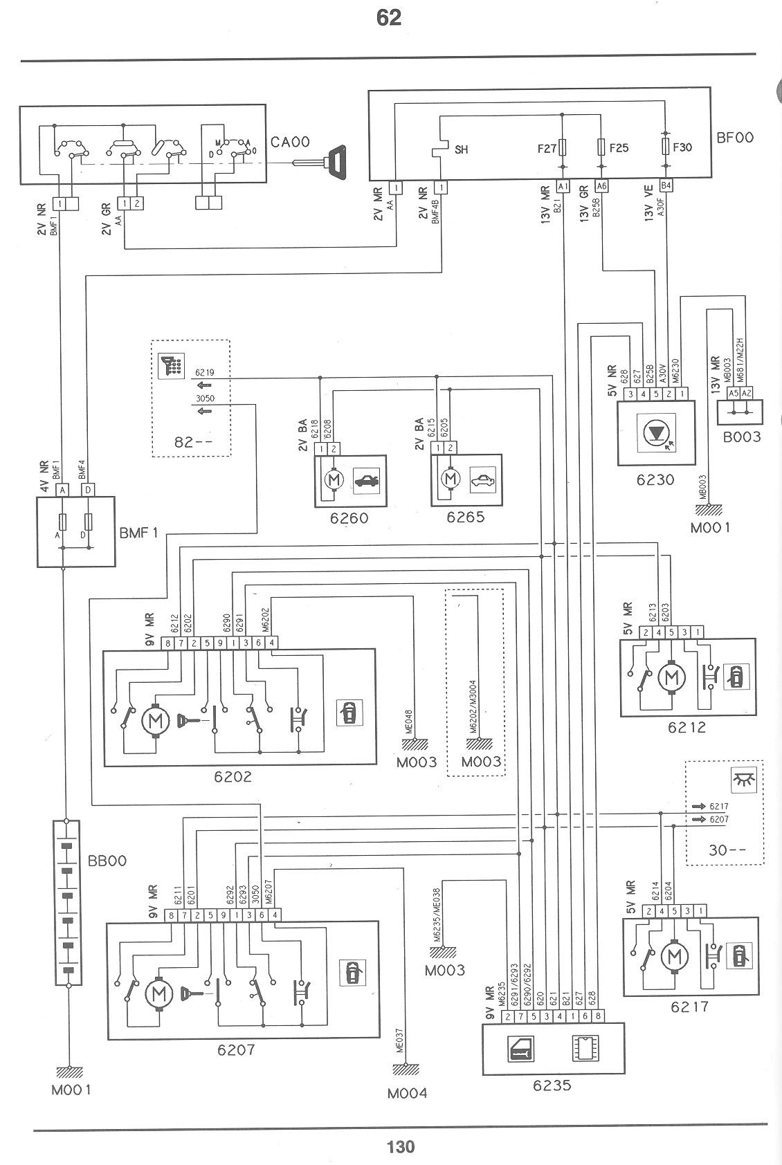 Citroen C2 Central Locking Wiring Diagram