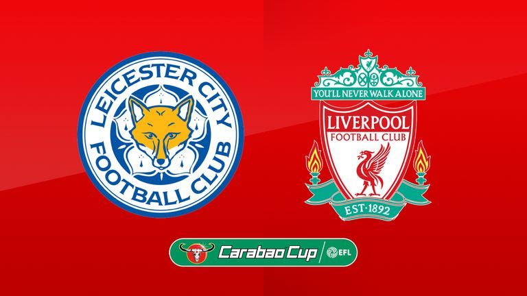 Image result for leicester city liverpool carabao cup