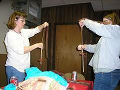 Susan and Amanda spinning