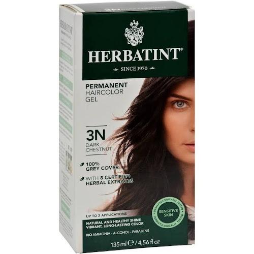 Herbatint Permanent Herbal Haircolor Gel, Dark Chestnut 3N - 1 kit, 4.56 fl oz