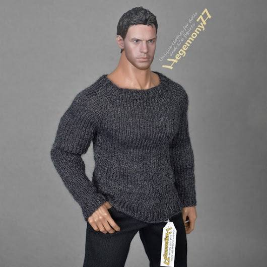 1/6th scale XXL hand knit sweater for Hot Toys by Hegemony77com