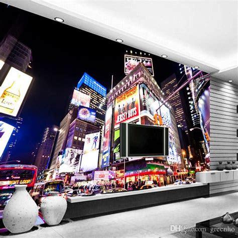 custom  wall murals  york times square wallpaper city