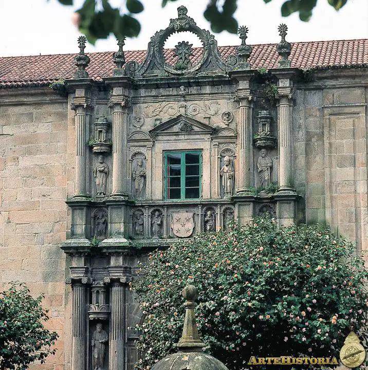 Colegio de Fonseca (Santiago de Compostela). Portada
