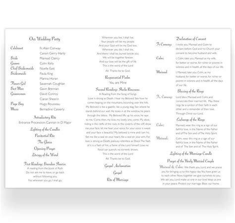 Tri fold Wedding Ceremony Booklet Sample   Loving Invitations