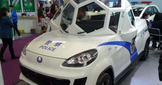 Crime fighting gets polygonal with the Zijing Qingyuan electric patrol vehicle