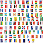 100 World International Countries Flags Banner Event Hanging Decoration 80 Feet, Multicolor(polyester)
