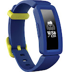 Fitbit Ace 2 Activity Tracker for Kids 6+ in Night Sky with Neon Yellow Clasp