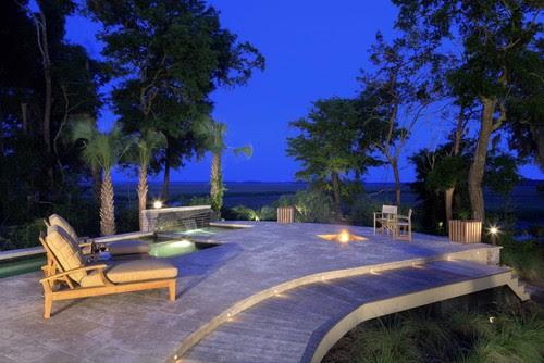 Exterior living contemporary pool