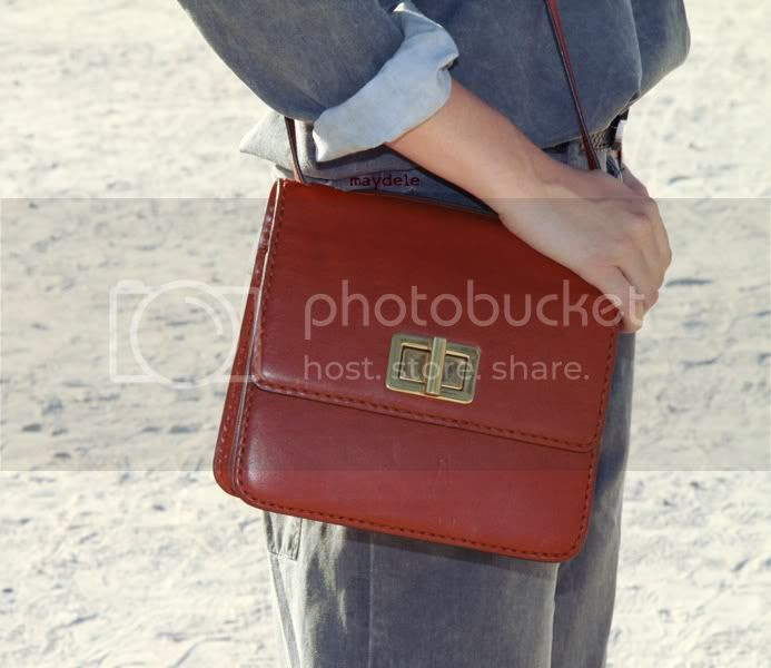 Camille Rowe Pourcheresse Chloé spring 2012 Louise Bag