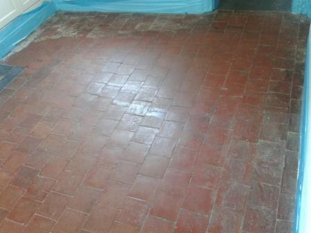 Red and Black Victorian Quarry Tiled Floor Restored in Oswestry | Shropshire Tile Doctor