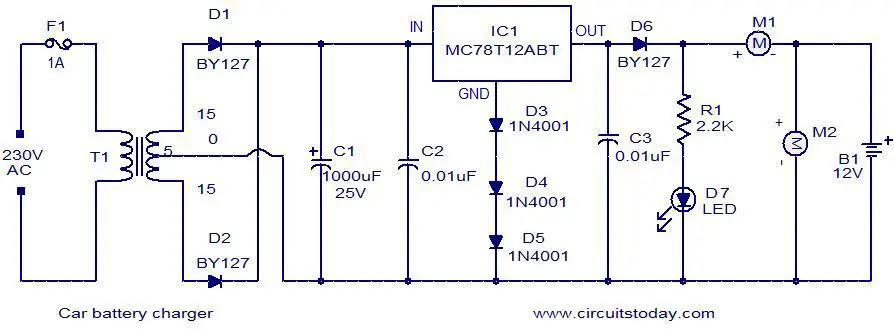 Car Battery Circuit Diagram - Circuit Diagram Images