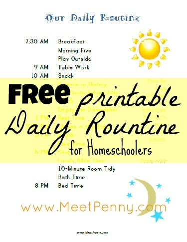 Our Homeschool Schedule (with Free Printables to Make Life Easier ...