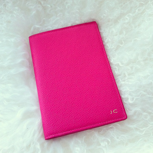 LE FASHION BLOG INSTAGRAM HOT PINK FUSCHIA PERSONALIZED TEXTURED LEATHER PASSPORT COVER 9