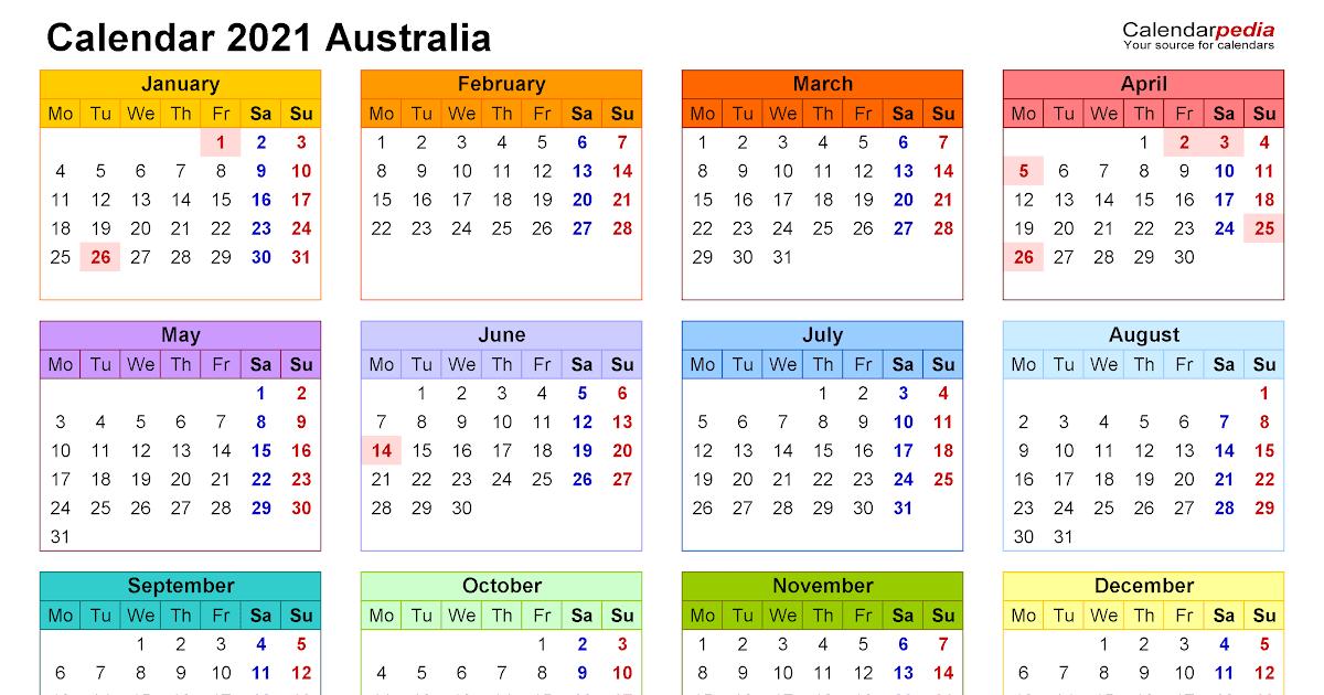 The calendars have large 2021 dates. Printable 2021 Australian Calendar   2022 Calendar