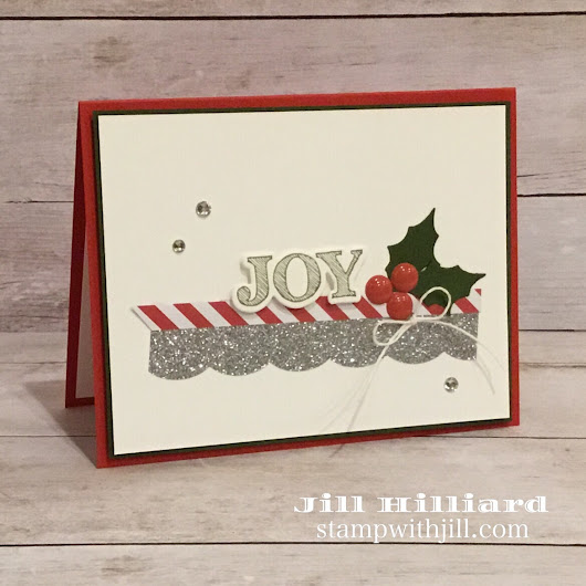 Clean and Simple Christmas card - Jill's Card Creations