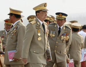 File picture of Myanmar's Prime Minister Thein Sein attending the Armed Forces Day ceremony in Naypyitaw