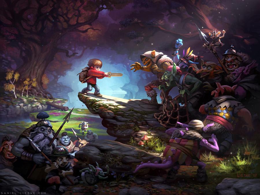 Fantasy Digital Paintings Trapped by daniellieske