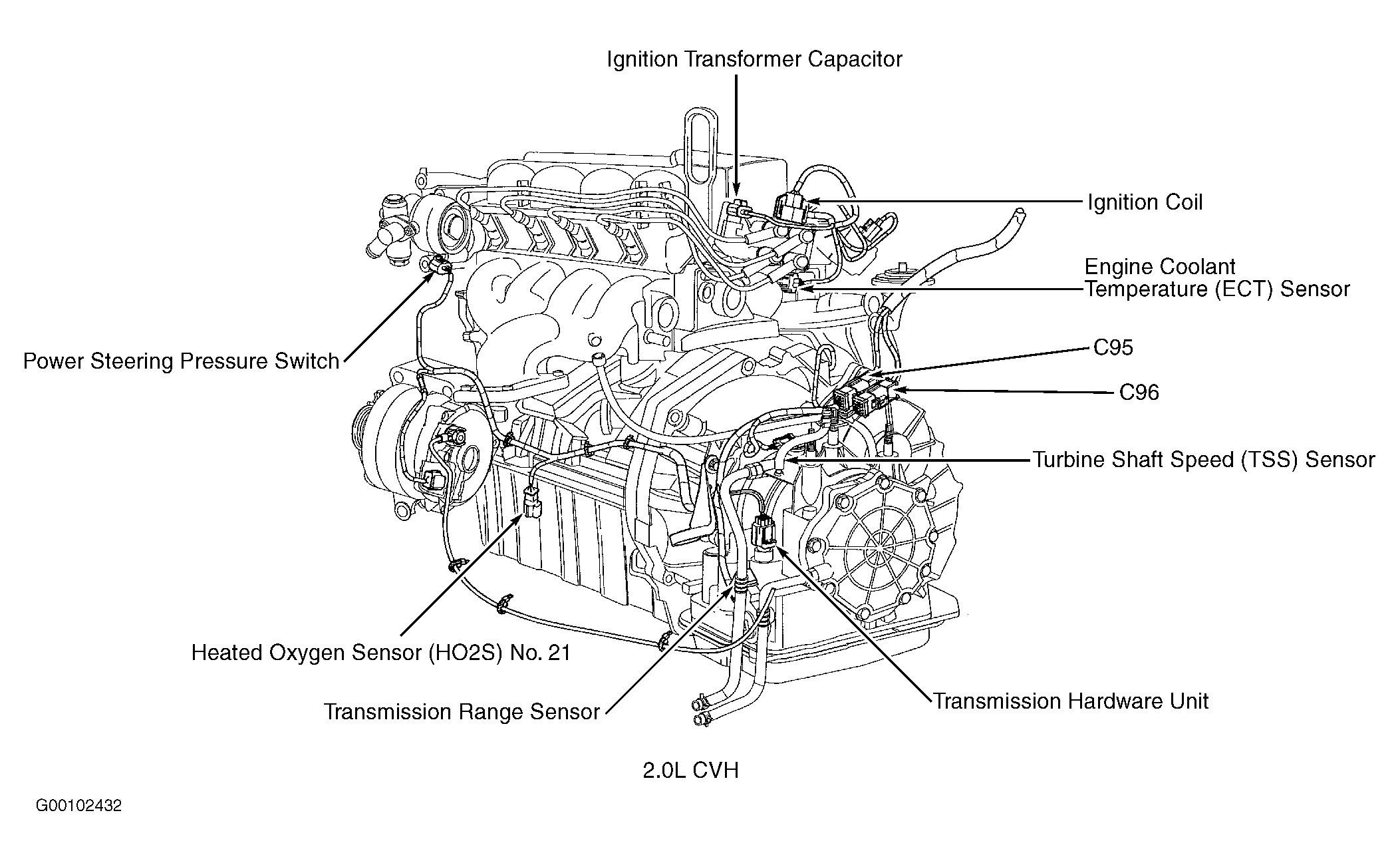 Ford Focu Engine Compartment Diagram
