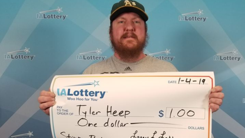 Man Wins $1 Dollar On Lottery And Asks To Be Presented With Giant Cheque