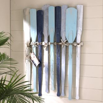 painted oars. great look!