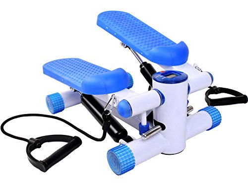 Exercise Stepper AEROBIC Fitness Stepper Ropes Workout W/Workout Cord Arms Leg
