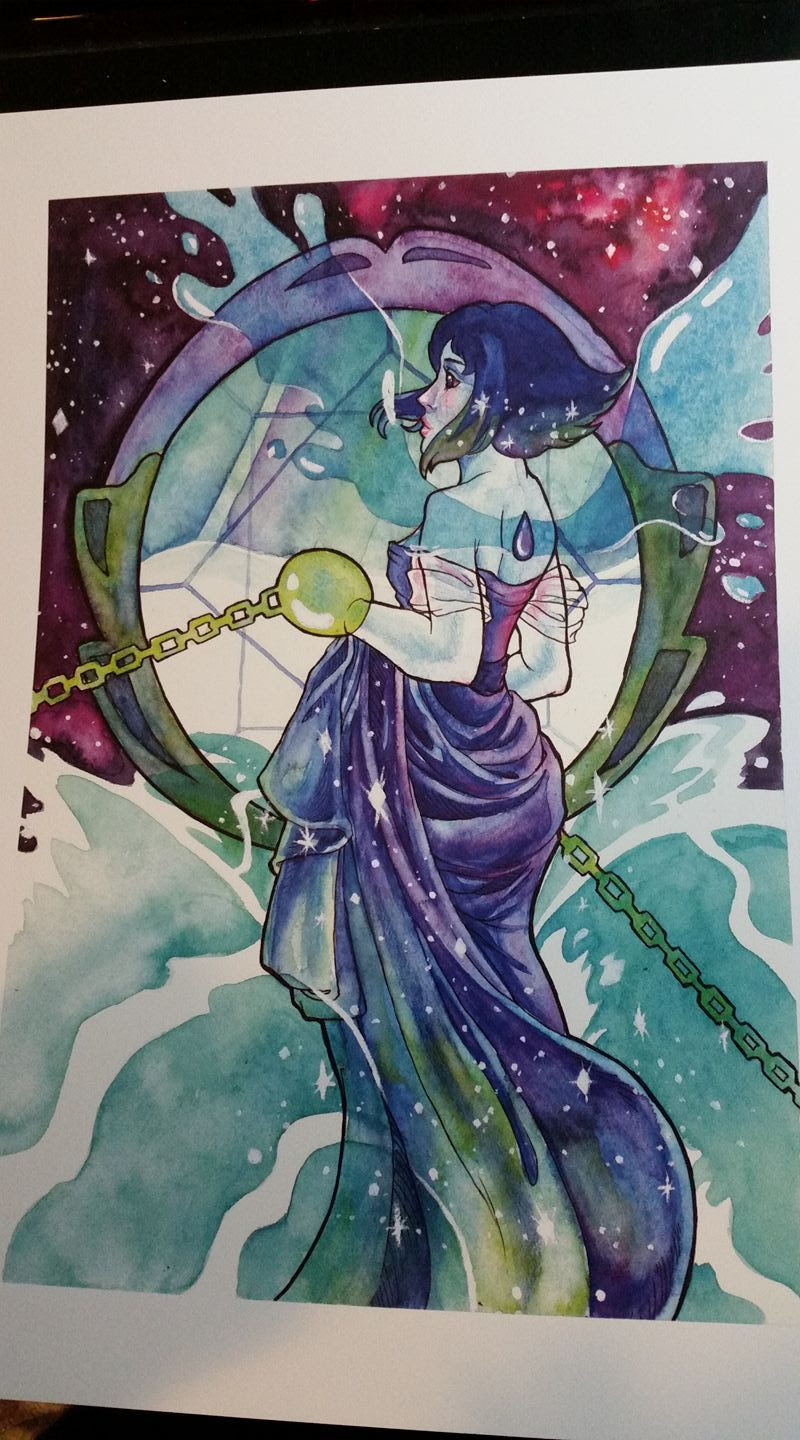 Prints for Sale Lapis 9X12 $10 Pearl 11x14 $15 Rose Quartz 11x14 $10 (discounted bc editing defects some shadows of the paper texture is on the right side of the paper) Blue Diamond $10 (discounted bc...