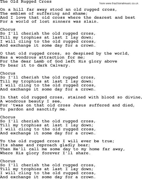 Lyrics To Old Rugged Cross