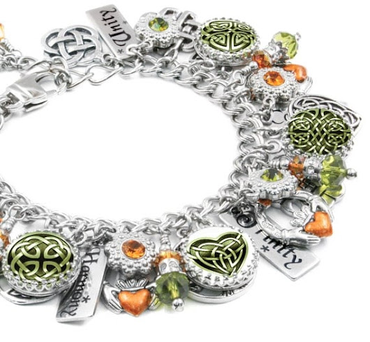 Celtic Charm Bracelet Celtic Bracelet St. by BlackberryDesigns