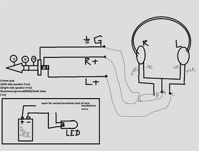 Headphone Speaker Wiring Diagram : Headphone With Volume