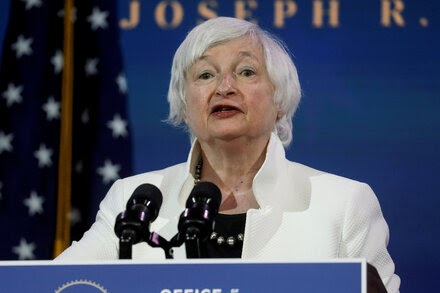 Janet Yellen is confirmed as Treasury secretary.