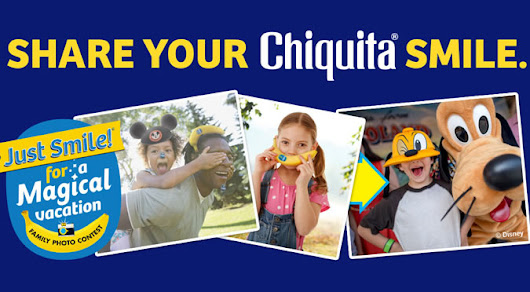 Bananas for Chiquita + Disney: GIVEAWAY! #JustSmileContest #ad #AwakenSummer