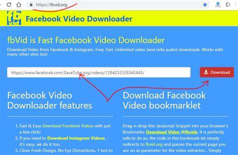 fbvidorg facebook downloader review tutorial step  open