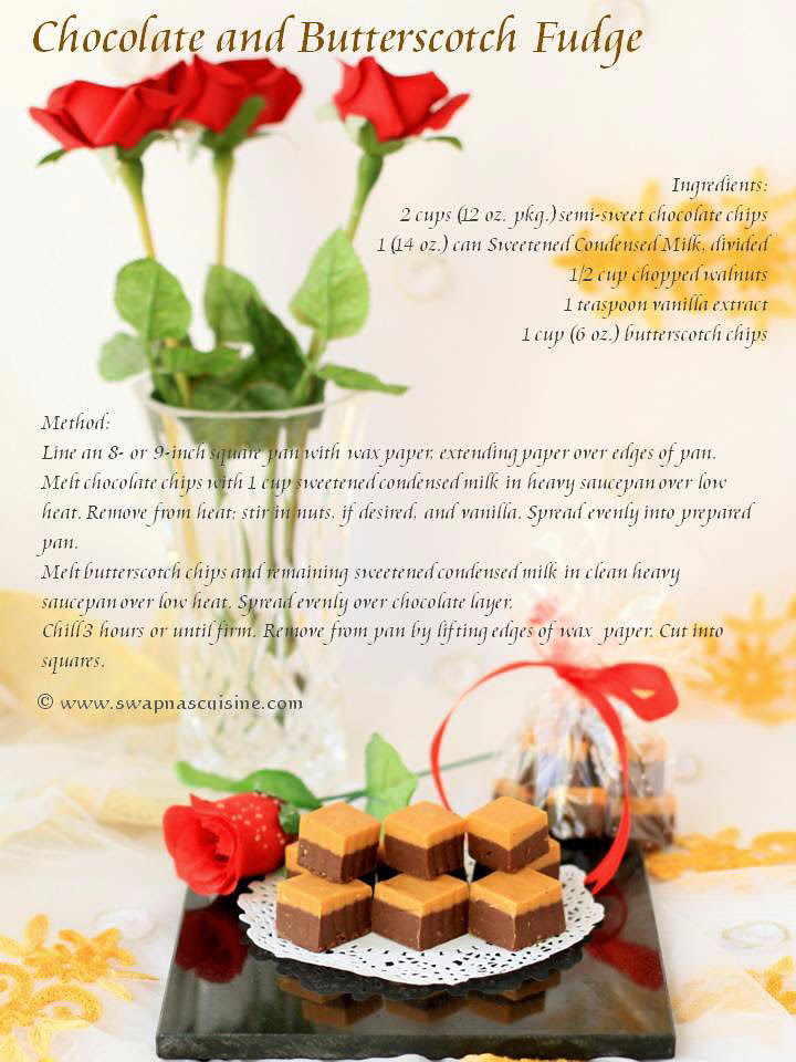 Homemade Butterscotch Fudge Recipe  Card