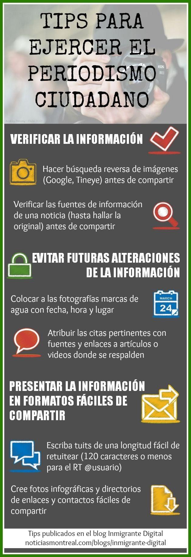 Tips para ejercer el periodismo ciudadano (Infografía)