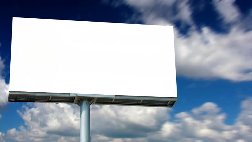 Blank Billboard Stock Footage Video - Shutterstock