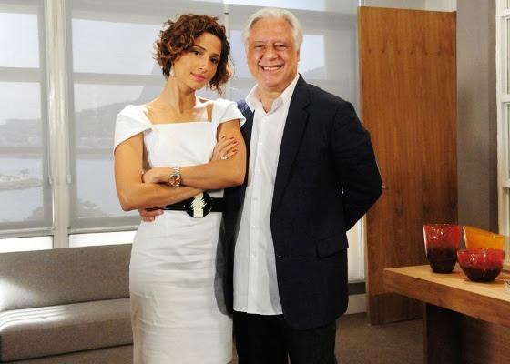 Camila Pitanga e Antônio Fagundes em cena de Insensato Coração (abril/2011)