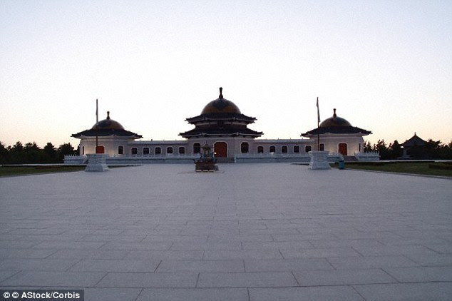 The Mausoleum of Genghis Khan (above), built in Xinjie Town in Inner Mongolia in 1954, attracts hundreds of thousands of visitors every year, but the location of the actual tomb that contains his remains has been lost