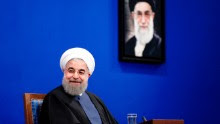 """Iranian President Hassan Rouhani gives a press conference in the capital Tehran on April 10, 2017. Rouhani is expected to run for a second term on May 19, 2017 but said this press conference was """"not about elections"""". / AFP PHOTO / ATTA KENARE        (Photo credit should read ATTA KENARE/AFP/Getty Images)"""