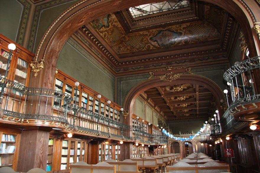 Alexandru Ioan Cuza University Library, Iasi, Romania.